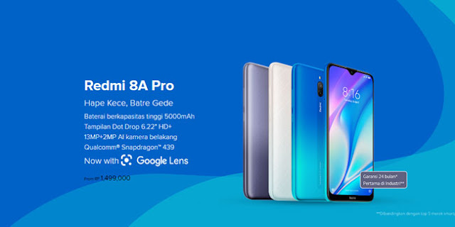 Spesifikasi lengkap Redmi 8A Pro