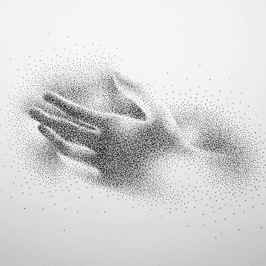 04-Reaching-Hand-Eric-Wang-Stippling-Drawings-www-designstack-co