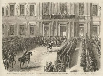 roclamation de l'Empire, à l'Hôtel de ville, le 2 décembre 1852 gravure