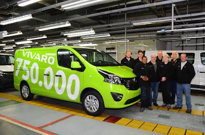 Το 750.000ό Opel Vivaro περνά από τη γραμμή παραγωγής