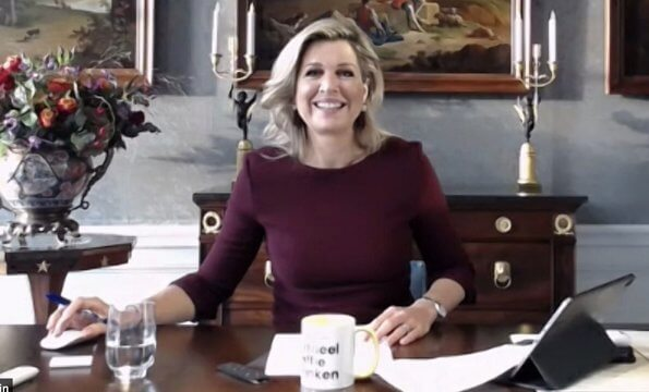 The food and agriculture organization. More Music in Classroom agreement. Queen Maxima's burgundy outfit is from the fashion house Natan