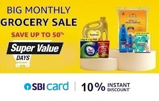Amazon Super Value Day – Shop for Grocery upto 50% off