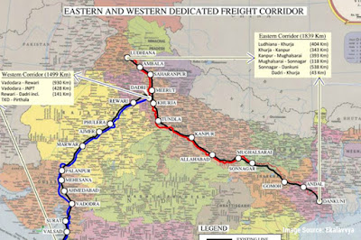 Dedicated freight corridor map plan