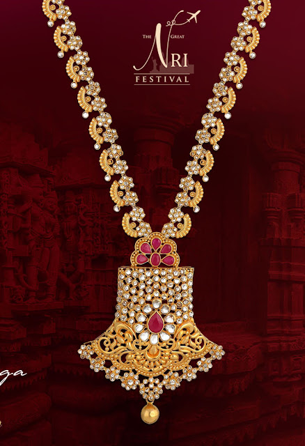 Polki Long Chains by Vaibhav Jewellers