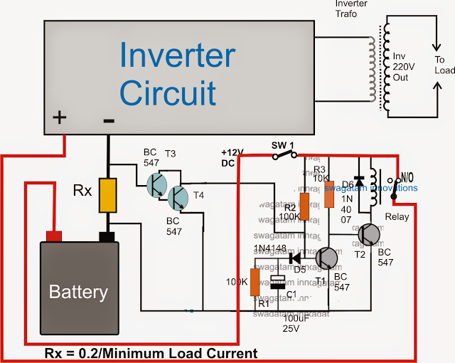 No Load Detector and Cut-off for Inverters circuit