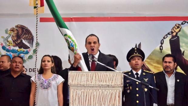 VIDEO: Da 'El Cuau' su propio Grito de Independencia en Cuernavaca
