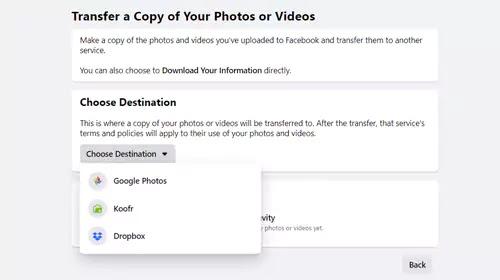 نقل صور فيسبوك