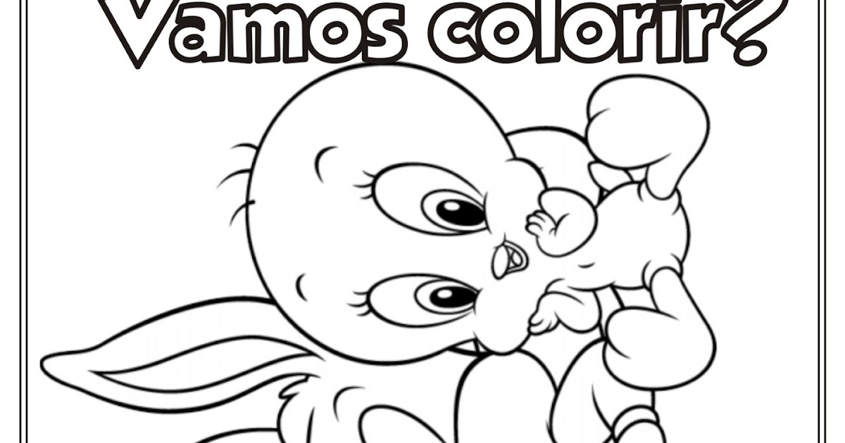 Desenho Baby Looney Tunes Para Colorir