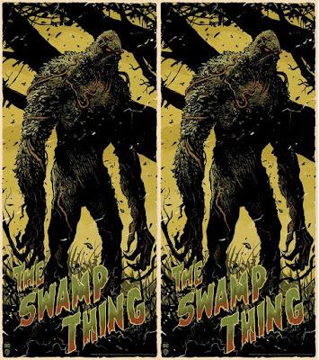 Swamp Thing DC Comics Screen Print by Francesco Francavilla x Mondo