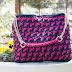 Double-Coloured Crochet Bag fuchsia