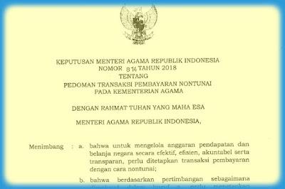 Keputusan Menteri Agama Nomor 814 Tahun 2018
