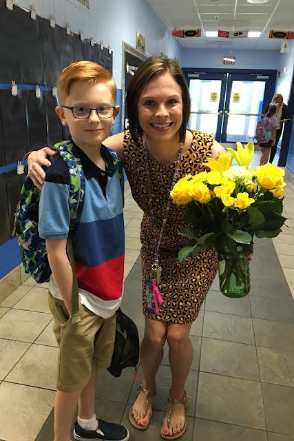 Porter and His New 4th Grade Teacher
