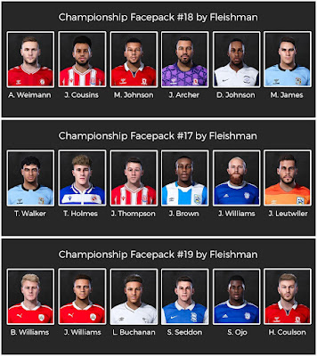 PES 2021 Championship Facepack #17, #18, #19 by Fleishman