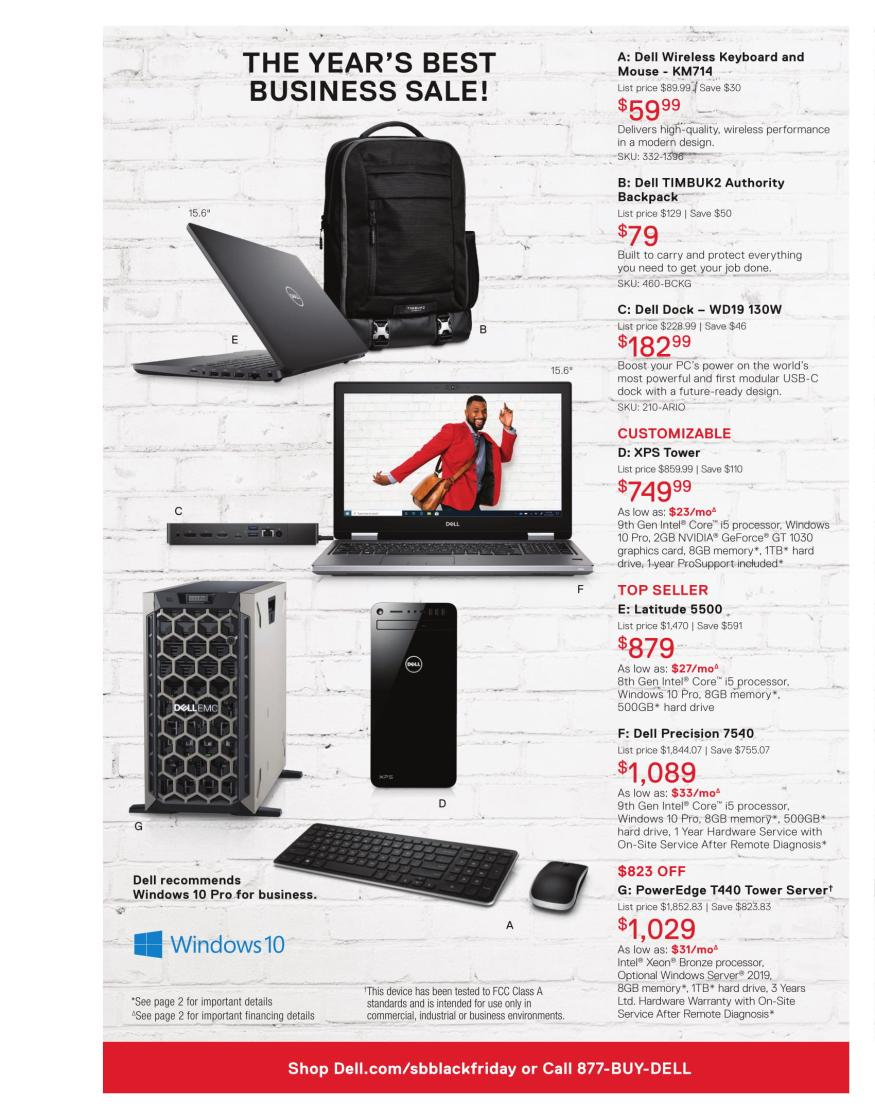Dell Small Business Black Friday 2019 Page 4