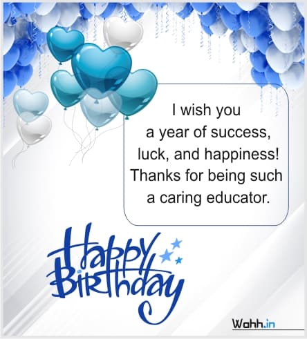 Heart Touching Birthday Wishes For Teacher In English