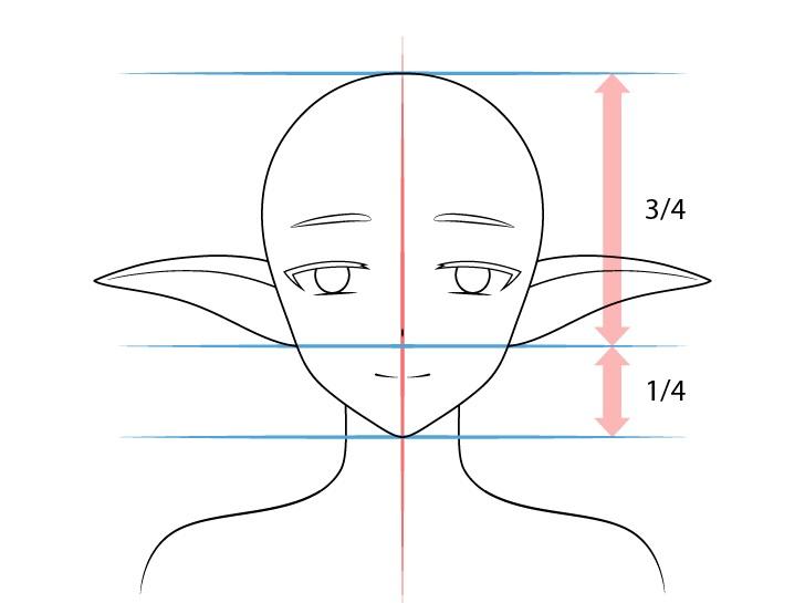 Gambar anime medium menurunkan telinga elf