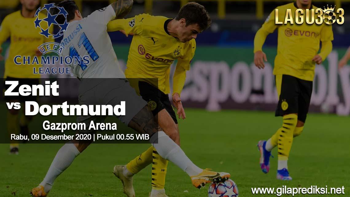 Prediksi Zenit St. Petersburg vs Borussia Dortmund 09 Desember 2020 pukul 00.55 WIB