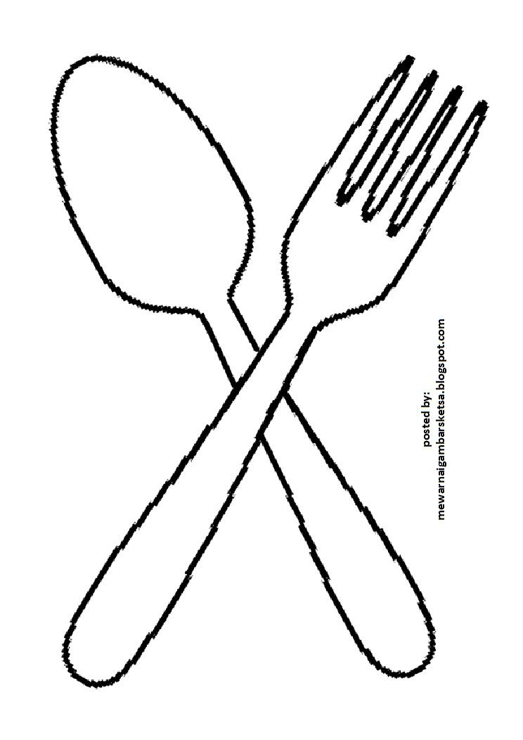 Mewarnai Gambar Gambar Sketsa Peralatan Dapur