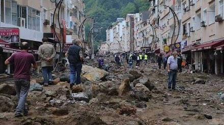 Tουρκία: Tέσσερις νεκροί και 11 αγνοούμενοι από τις πλημμύρες στην Κερασούντα