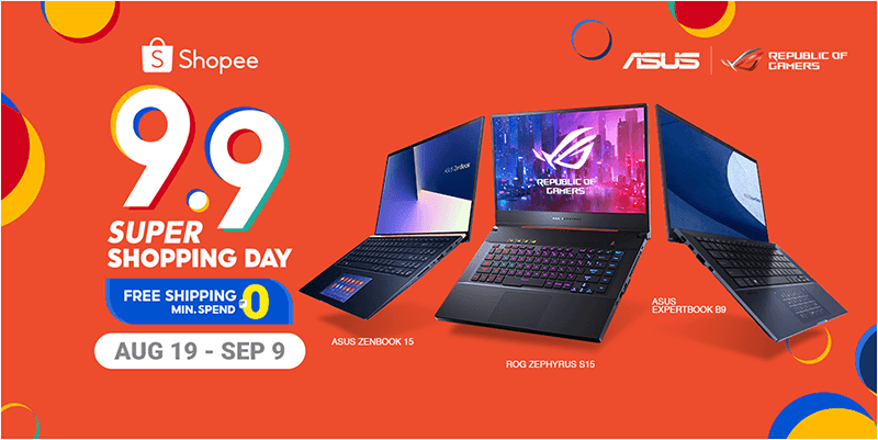 ASUS and ROG join Shopee 9.9 Super Shopping Day