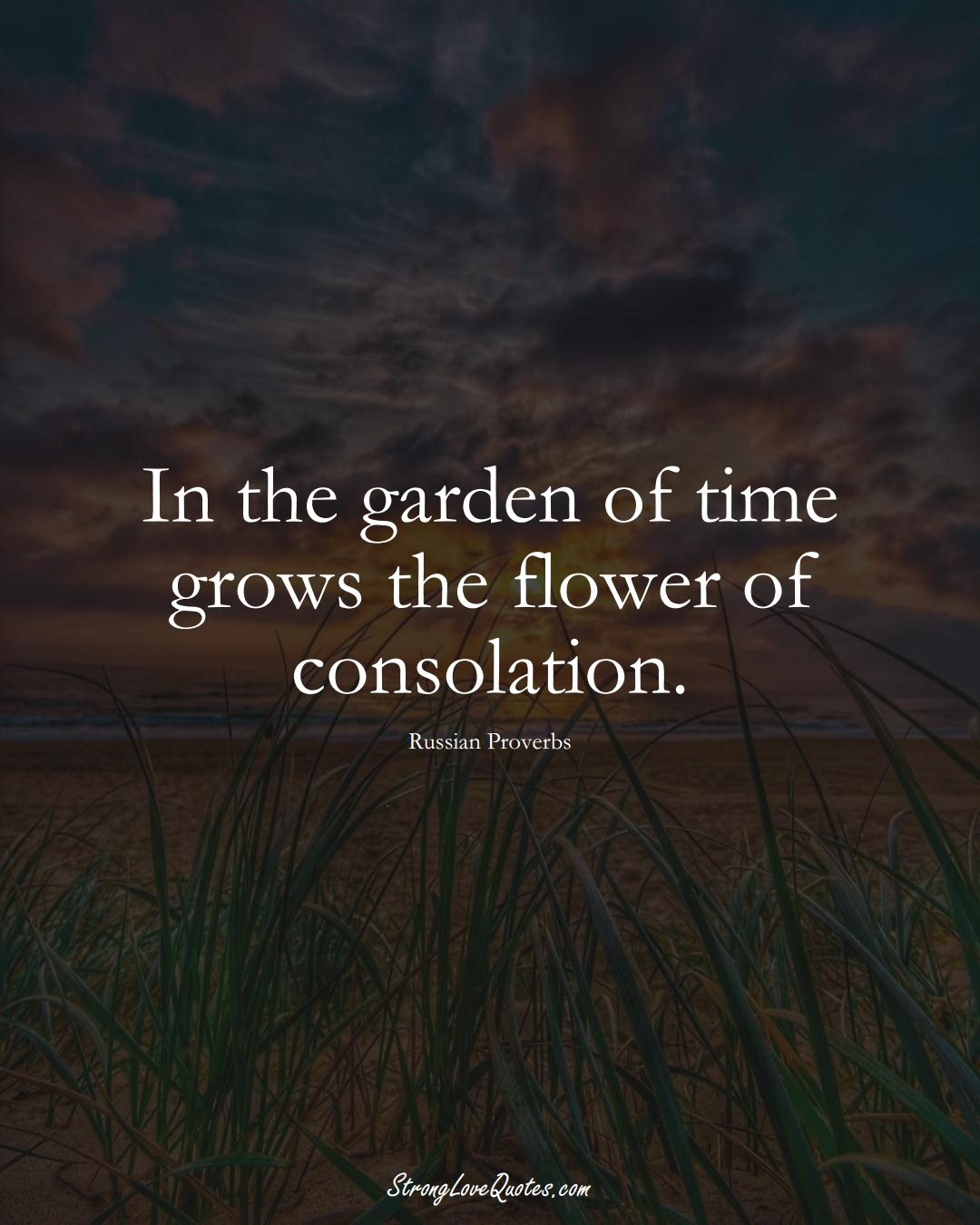 In the garden of time grows the flower of consolation. (Russian Sayings);  #AsianSayings