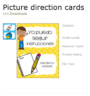https://www.teacherspayteachers.com/Product/Picture-direction-cards-2619212