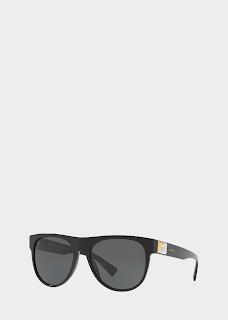 Versace Black Greca Tetris Sunglasses