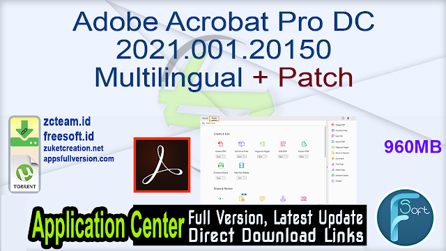 Adobe Acrobat Pro DC 2021.001.20150 Multilingual + Patch_ ZcTeam.id