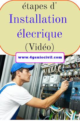 Comment réaliser une installation électrique en vidéo