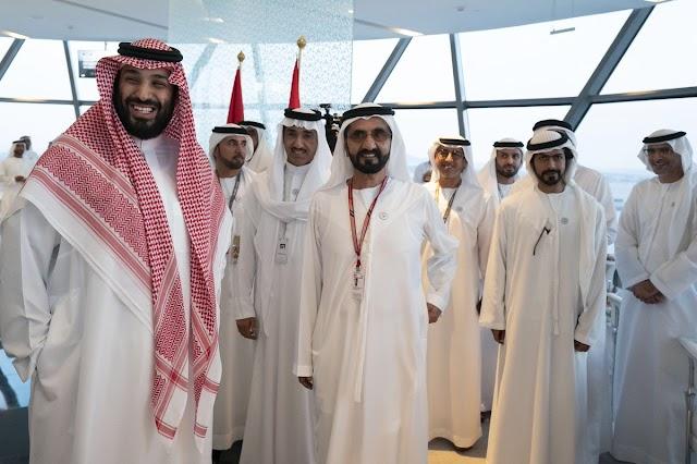 """محمد بن راشد ومحمد بن زايد ومحمد بن سلمان  الفورمولا 1 """"2018"""""""