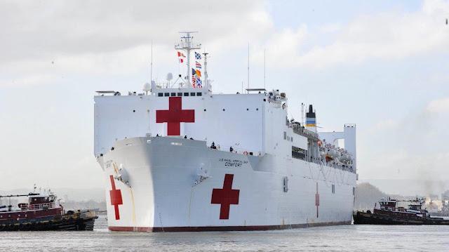 LATINOÁMERICA: Buque hospital Comfort llegó a las costas de Santa Marta en Colombia.