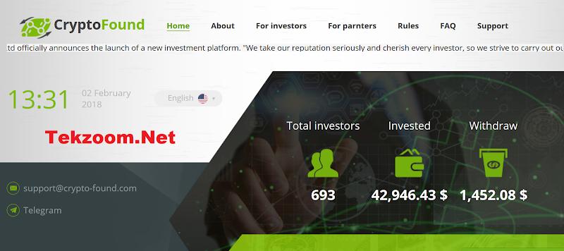 [SCAM] Review Crypto-Found : Lãi từ 164% sau 12 ngày - Đầu tư tối thiểu 10$ - Thanh toán Manual