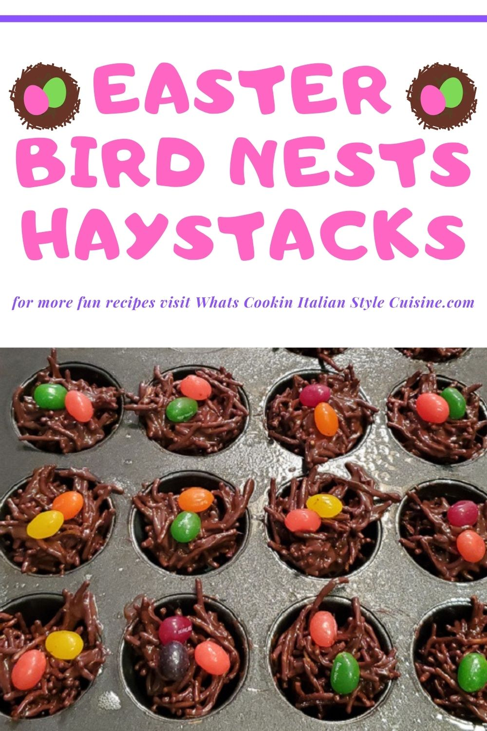 this is a pin for later on how to make Easter haystack chocolate nests