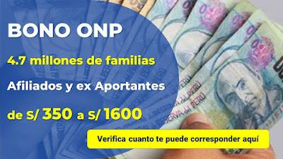 Bono Afiliados ONP conoce si puedes ser beneficiario