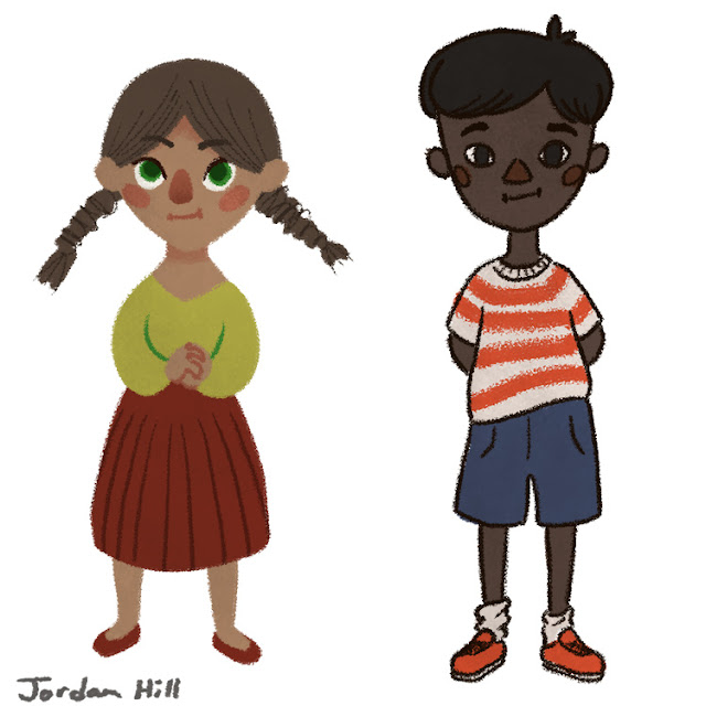 Illustration of kids by Jordan Hill
