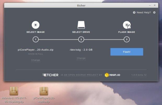Volumio frente a piCorePlayer en la Raspberry Pi: un análisis comparativo Etcher