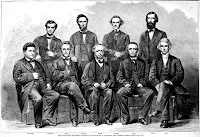 Lithograph from Lilienthal photograph; 23 June 1866 – Harper's Weekly, p. 388; Southern Methodist Bishops at New Orleans, Louisiana. Retrieved 2021 from the Lincoln Financial Foundation Collection, Allen County Public Library, Fort Wayne, Indiana, via Internet Archive.