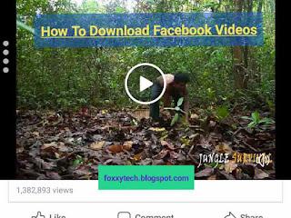facebook video post screenshot