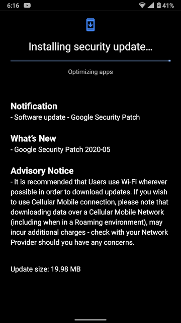 Nokia 8 Sirocco receiving May 2020 Android Security patch