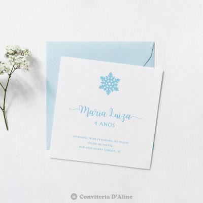 frozen convite aniversario personalizado