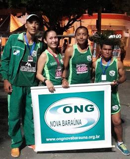 Baraúna é campeã no masculino e feminino na 10º Corrida noturna de Cajazeiras
