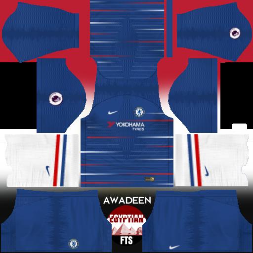 Chelsea FC 2018/19 Kit & Logo | Dream League Soccer