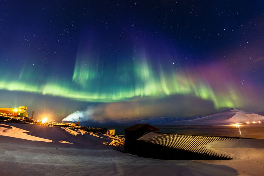 Северное сияние на Шпицбергене