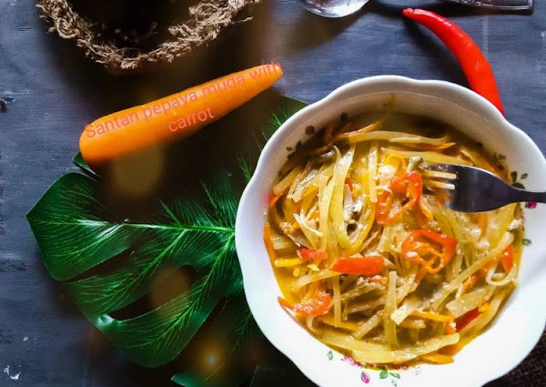 Santan pepaya muda with carrot