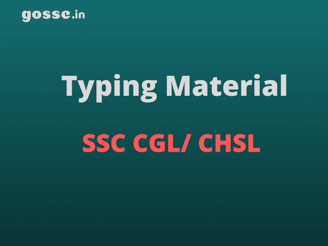 Dest Typing Material for SSC