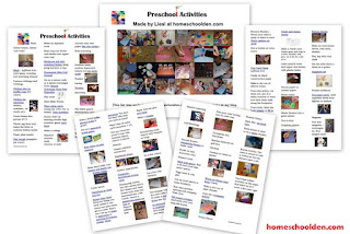 http://homeschoolden.com/2016/02/23/a-huge-list-of-activities-to-do-with-your-preschooler-100-activities/