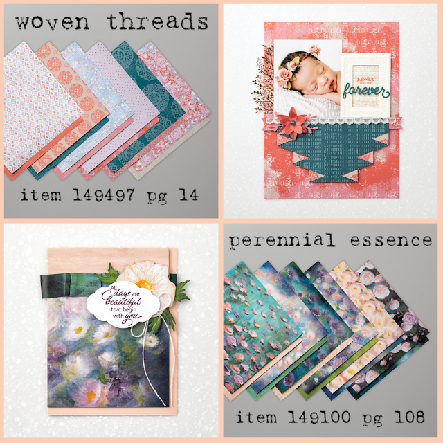 Woven Threads and Perennial Essence Designer Series Paper and project samples - shop with Nicole Steele, The Joyful Stamper!