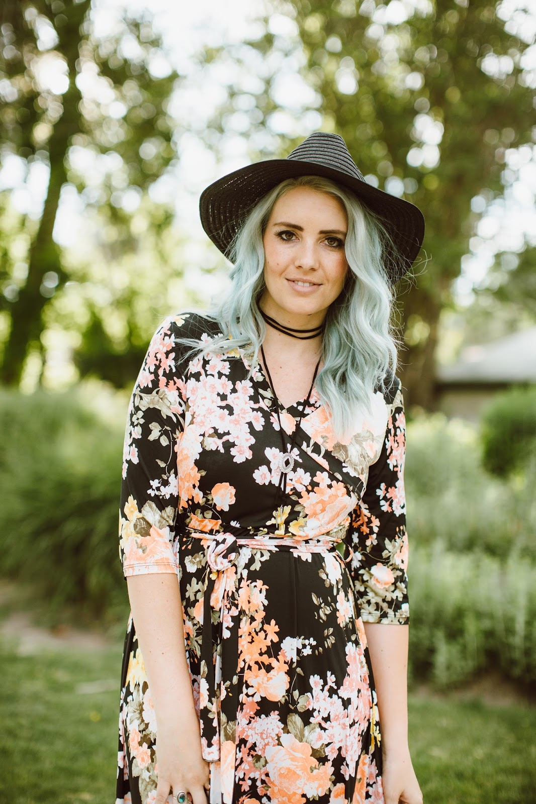 Modest fashion Blogger, Utah Blogger, Floral Dress