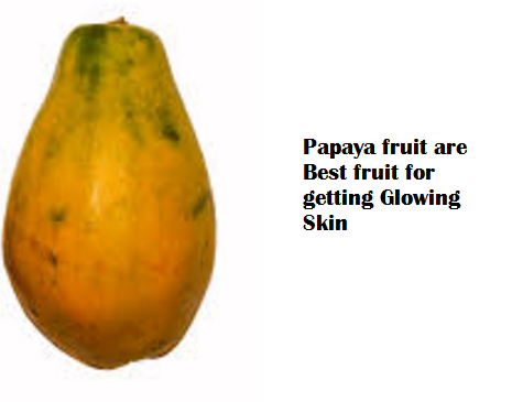Papaya fruit are Best fruit for getting Glowing Skin