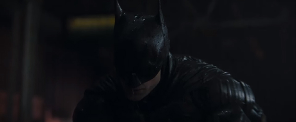 A screenshot from the newest trailer for 2021's THE BATMAN.